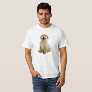 Camisa do filhote de cachorro do golden retriever