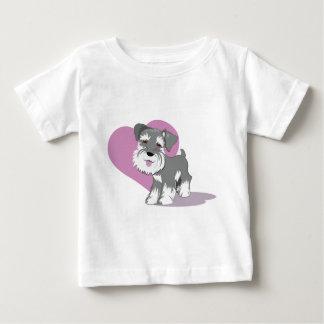Camisa do filhote de cachorro do Schnauzer