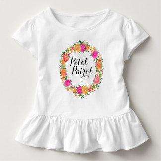 Camisa do florista do T do plissado da criança da