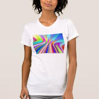 Camisa do Fractal do arco-íris do cetim - tanque Camiseta