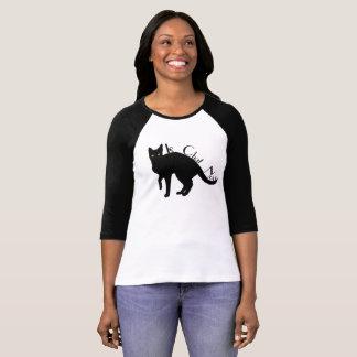 Camisa do francês do gato preto de Le Conversa
