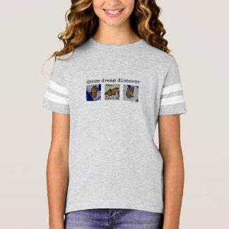 Camisa do futebol da menina da borboleta