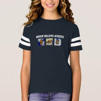 Camisa do futebol da menina ideal da arte da