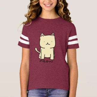 Camisa do futebol das meninas do Meow
