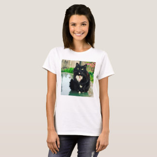 Camisa do gatinho T para mulheres