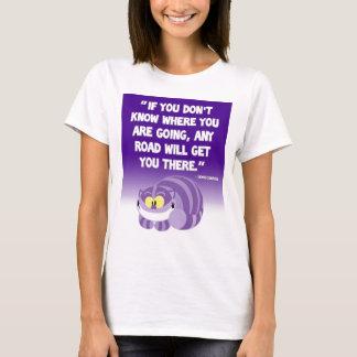 Camisa do gato de Cheshire das citações de Lewis