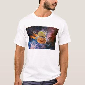 Camisa do gato do espaço do hamburguer do Taco