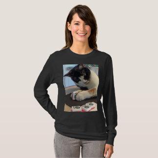 Camisa do gato do palhaço do Mah Jongg