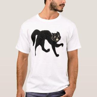 camisa do gato preto do Dia das Bruxas do 1920