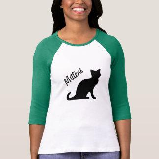 Camisa do gato preto t com nome de animal de tshirts