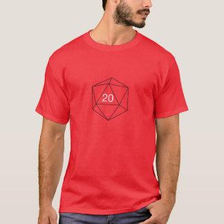 Camisa do geek D20