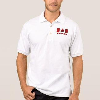 Camisa do golfe de Canadá do pólo da bandeira do