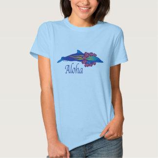 Camisa do golfinho T das mulheres Aloha Tshirts