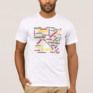 camisa do gráfico da palavra do transgender