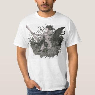 Camisa do guerreiro do dragão tshirts