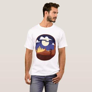 Camisa do homem da paisagem do deserto