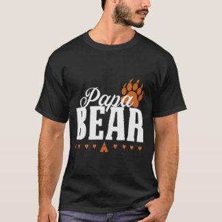 Camisa do impressão da pata de urso da papá