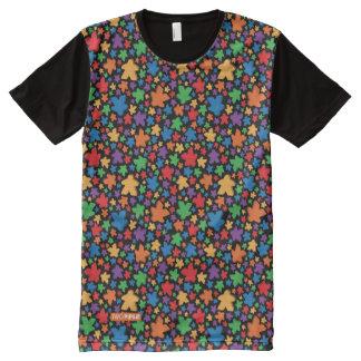 Camisa do impressão de Meeples toda sobre -
