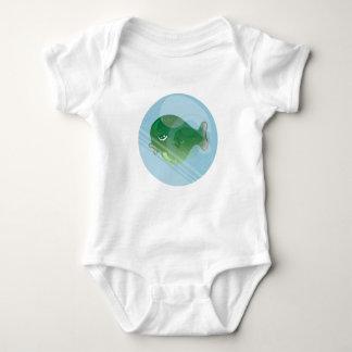 Camisa do jérsei T dos peixes da bolha