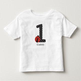 Camisa do joaninha do primeiro aniversario para um