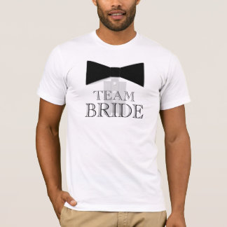 Camisa do laço da noiva da equipe