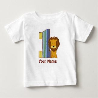 Camisa do leão do aniversário do bebê primeira