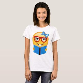 Camisa do leitor ávido do nerd de Emoji