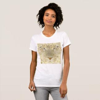 Camisa do leopardo do ouro