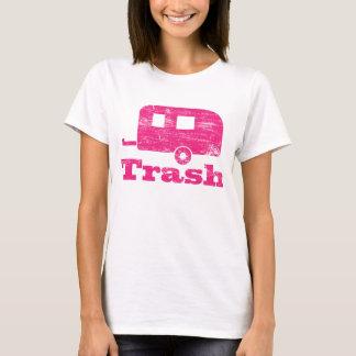 Camisa do lixo T do reboque do vintage