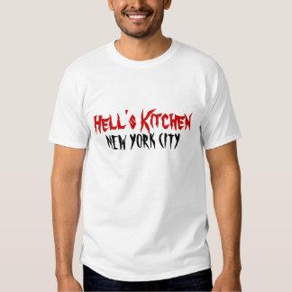 camisa do logotipo da cozinha do inferno camisetas