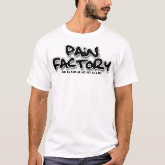 Camisa do logotipo da fábrica da dor