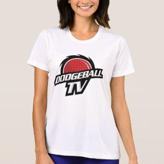 Camisa do logotipo das mulheres de DodgeballTV