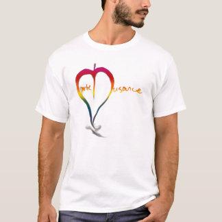 Camisa do logotipo do arco-íris
