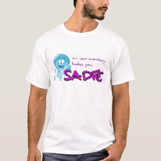 Camisa do logotipo do macaco de Sadie