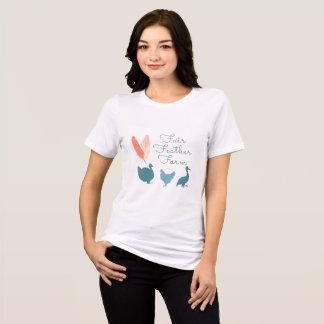 Camisa do logotipo t da fazenda das mulheres