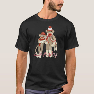 Camisa do macaco T do código do macaco da peúga