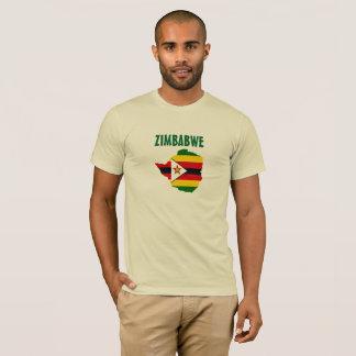 Camisa do mapa da bandeira de Zimbabwe