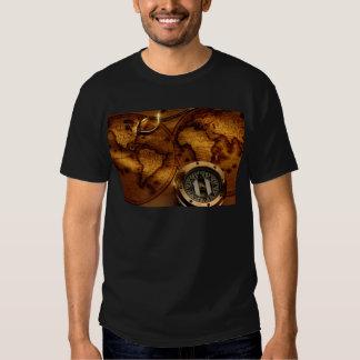 Camisa do mapa de compasso t-shirt