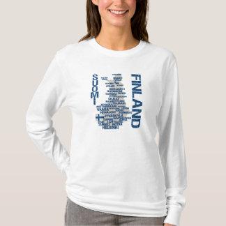 Camisa do MAPA de FINLANDIA - escolha o estilo & a