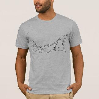 Camisa do mapa de Prince Edward Island