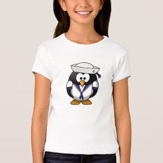 Camisa do marinheiro do pinguim das meninas t-shirts