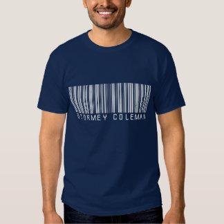 Camisa do marinho do logotipo de Stormey Coleman T-shirt