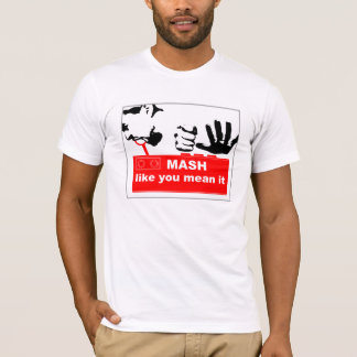 Camisa do Masher T do botão