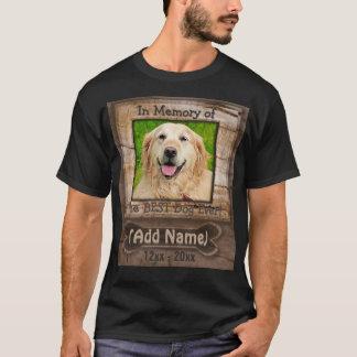 Camisa do memorial do cão