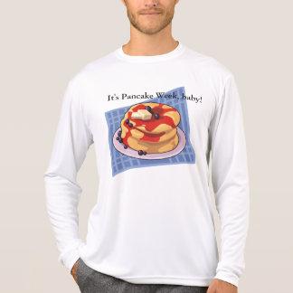 Camisa do mês do dia/semana de panqueca