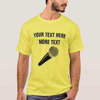 Camisa do microfone t para o partido do canto da