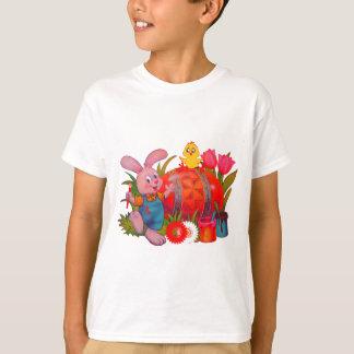 Camisa do miúdo do coelhinho da Páscoa