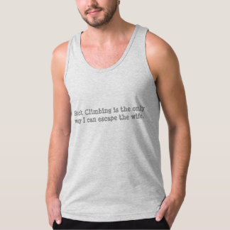 camisa do montanhista de rocha T Regata