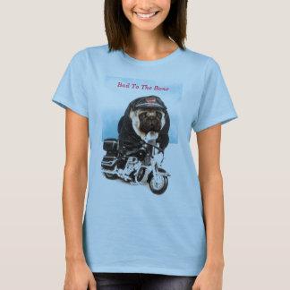 Camisa do motociclista T do cão do Pug