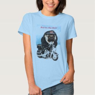 Camisa do motociclista T do cão do Pug T-shirts
